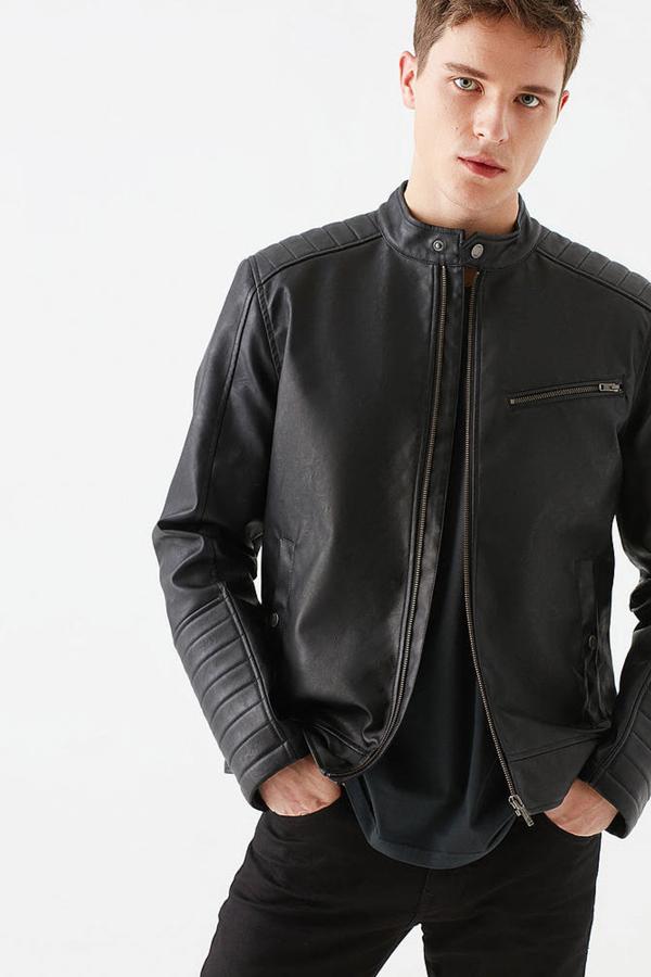 Fermuarlı Ceket Siyah