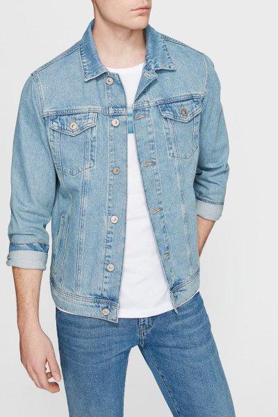 Mavi Erkek Frank Lt Shaded Vintage Jean Ceket 0115228232