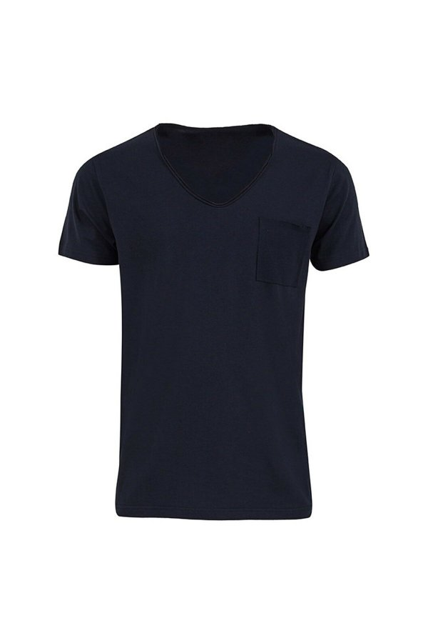 Yulas Yakası Cepli Basic Tişört 012218451660890000