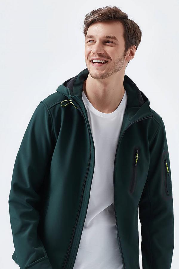 Fermuarlı Ceket Koyu Yeşil