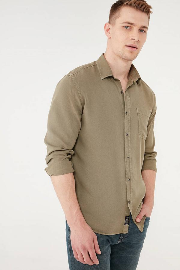 Uzun Kol Gömlek Haki
