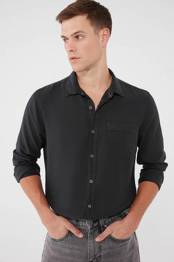 Uzun Kol Gömlek Siyah