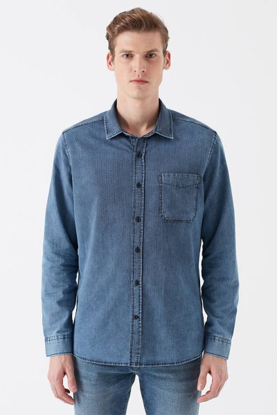 Mavi Çizgili Gömlek 021420-18790