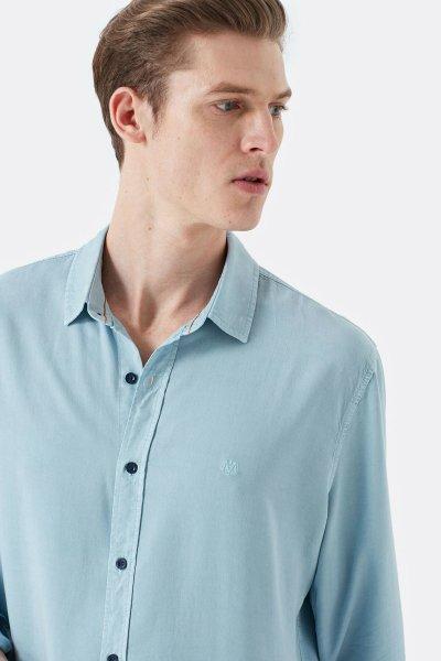 Mavi Uzun Kol Gömlek 021421-30702