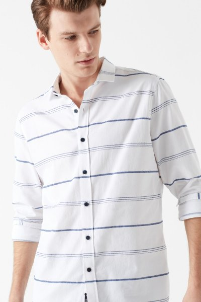 Mavi Çizgili Gömlek 021443-620
