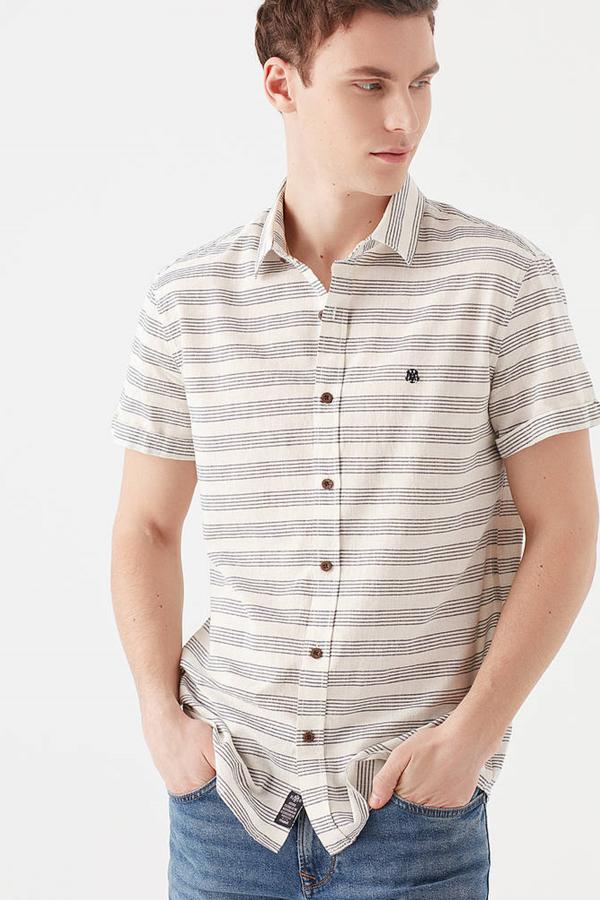 Kısa Kol Gömlek Kırık Beyaz