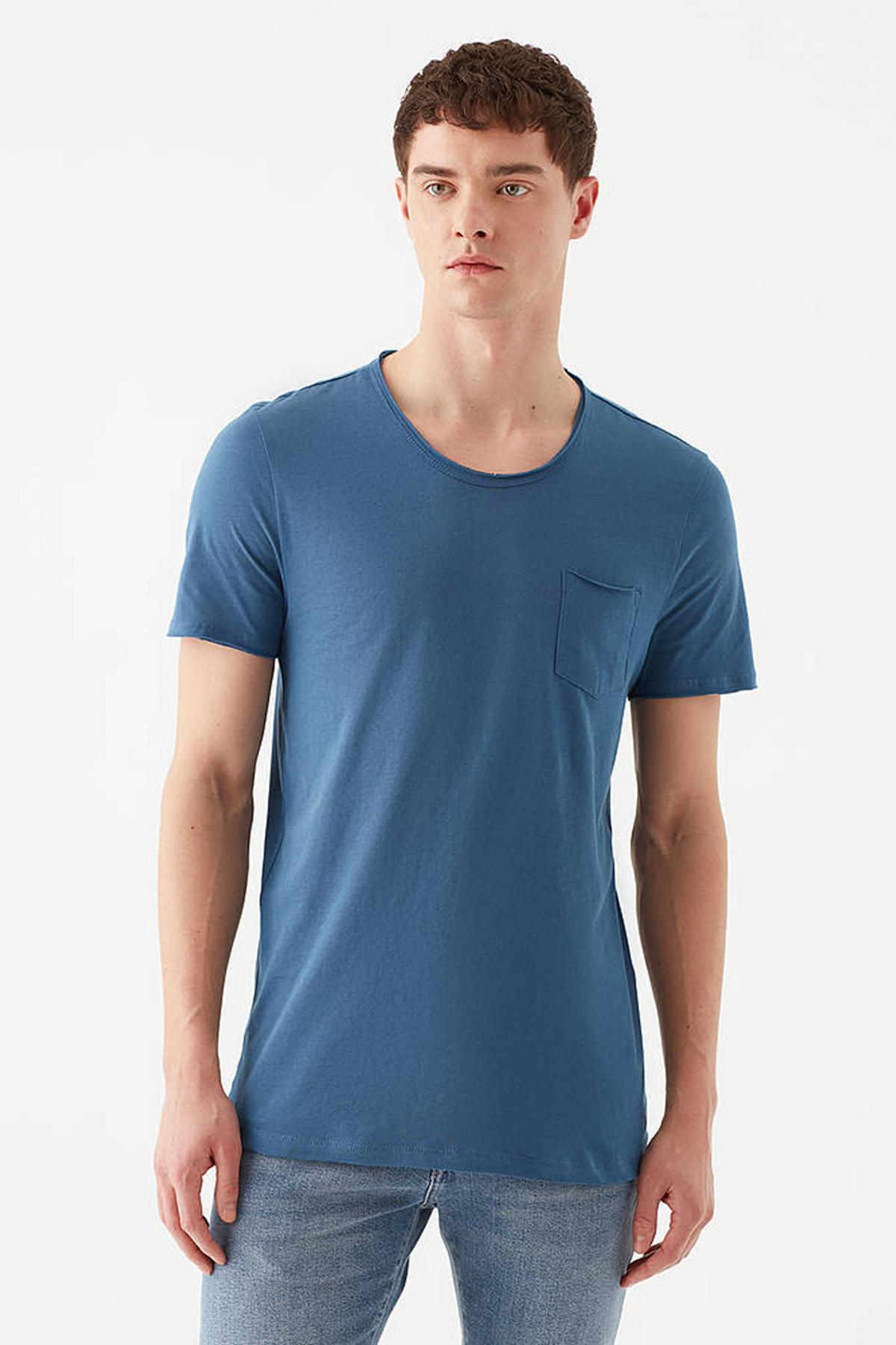 Basıc Tişört Gece Mavi