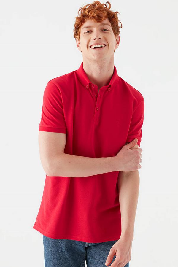 Polo Tişört Çin Kırmızısı