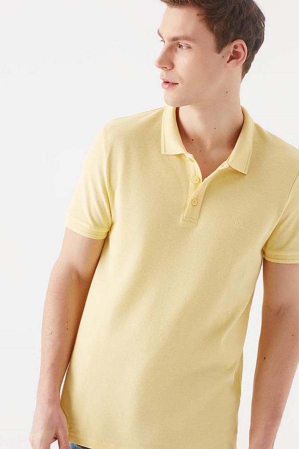 Polo Tişört Uçuk Sarı