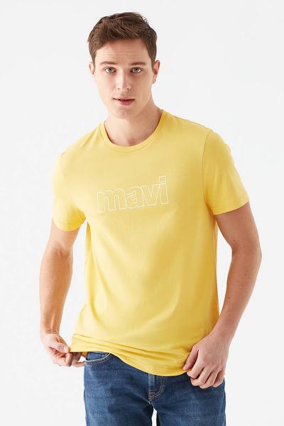 MAVİ LOGO TİŞÖRT limon sarı