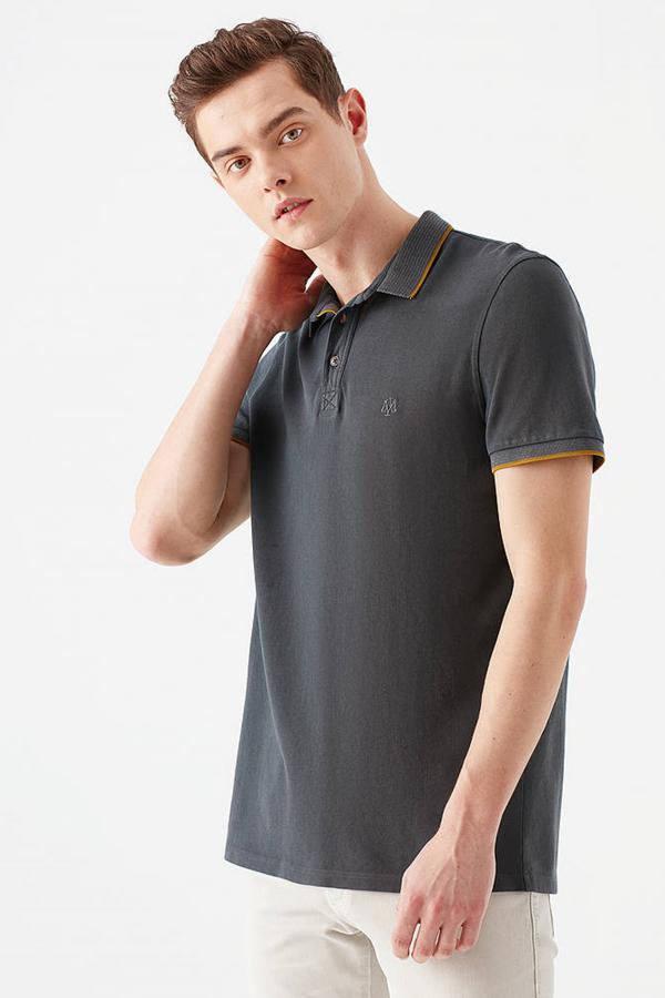 Polo Tişört Gölge Gri