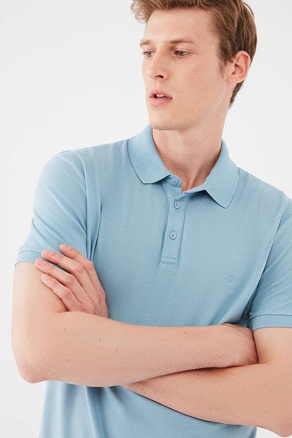 Polo Tişört Soluk Mavi