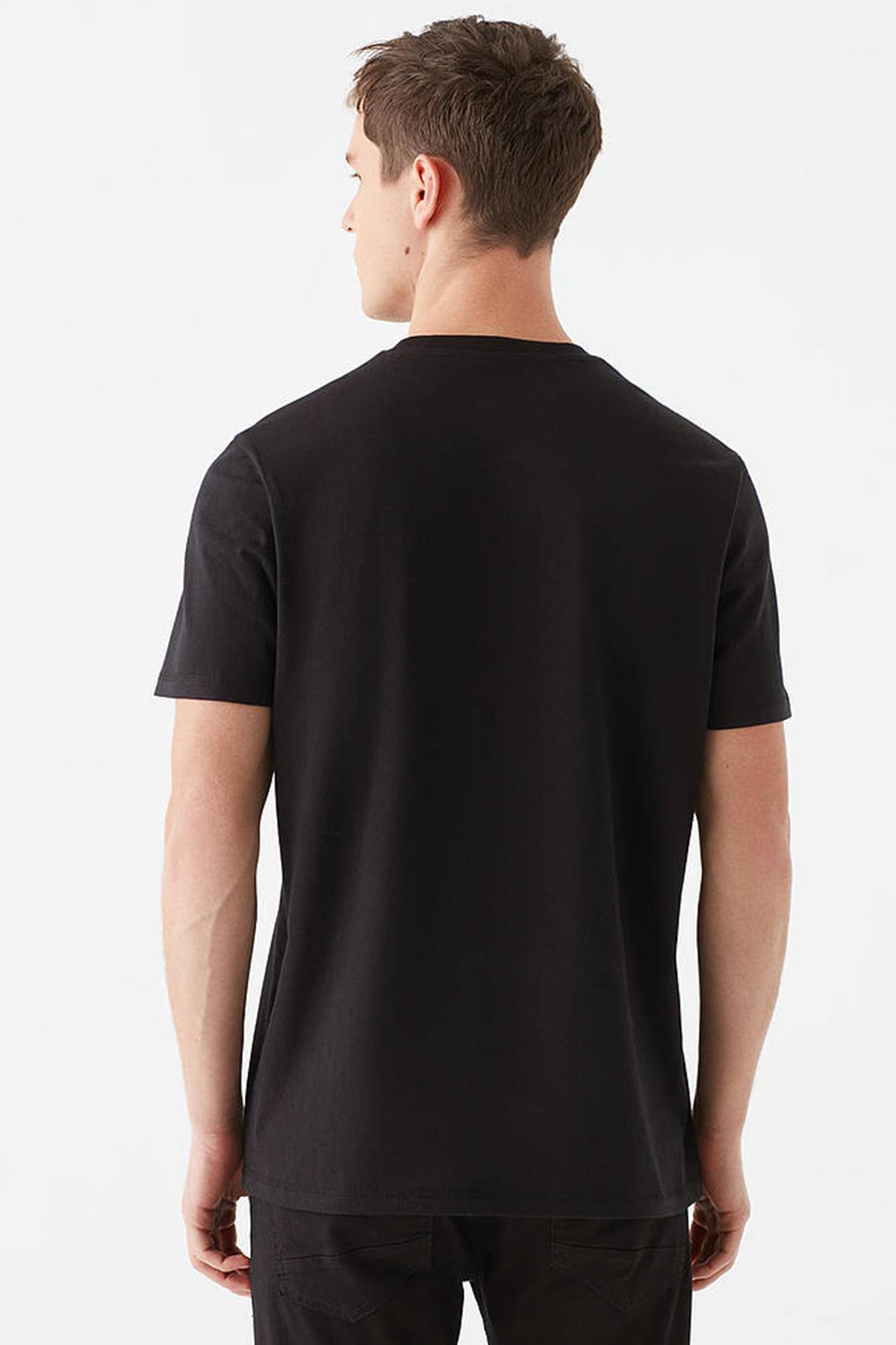 Baskılı Tişört Siyah