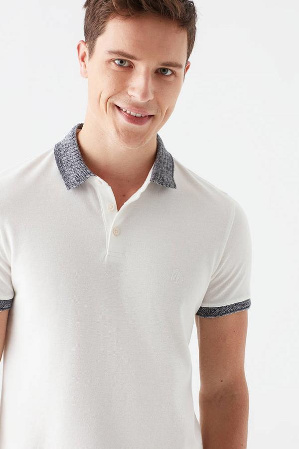 Polo Tişört Kırık Beyaz