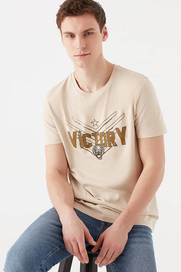 Vıctory Baskılı Tişört Kil