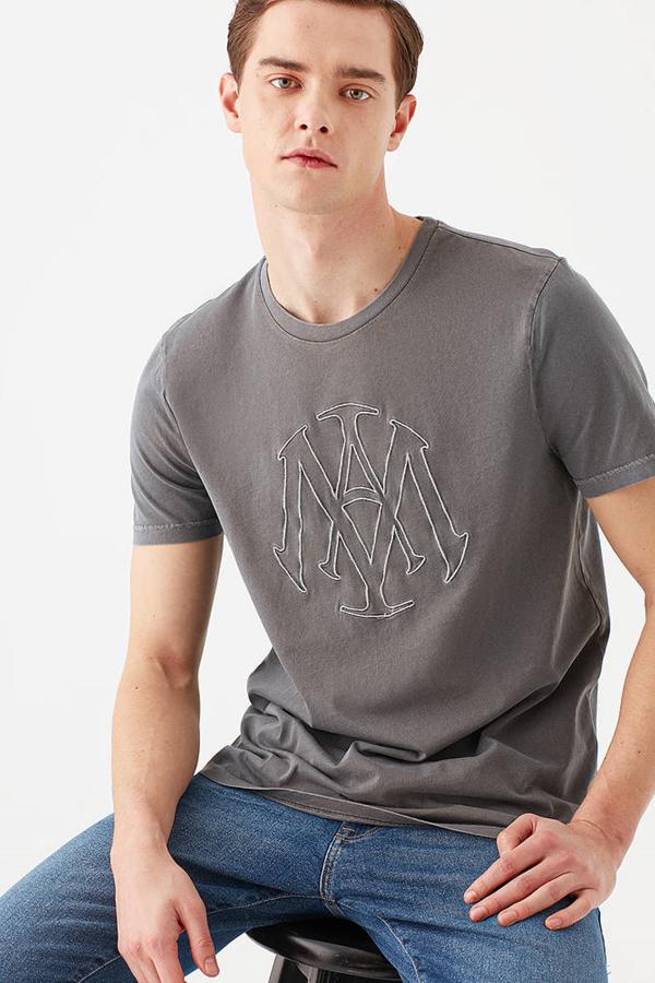 Mühür Logo Tişört Antrasit