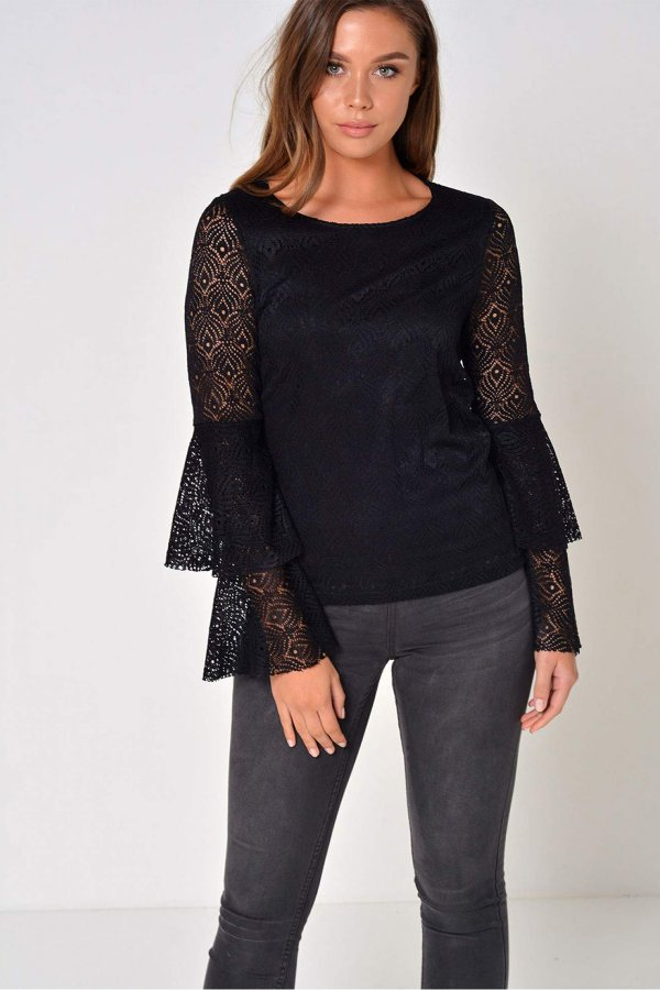 Vero Moda Kadın Bluz Vmmajse Ls Lace Top Jrs A 10182883