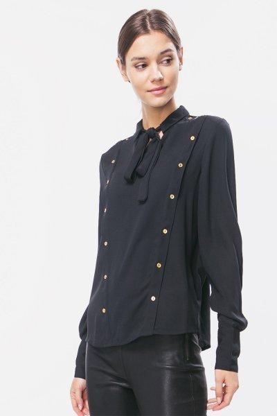 Vero Moda Kadın Gömlek Vmsophıe L/S Bow Shırt 10185897