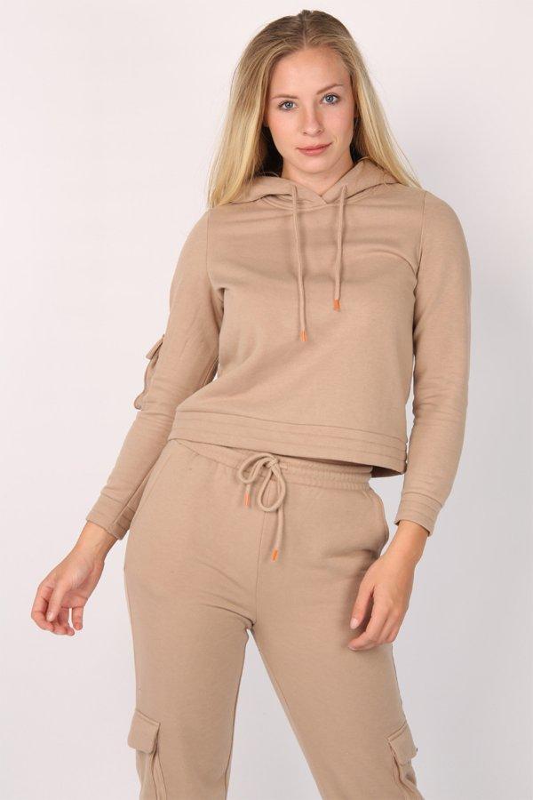 Pcsarıa Kapüşonlu Sweatshirt 17106959