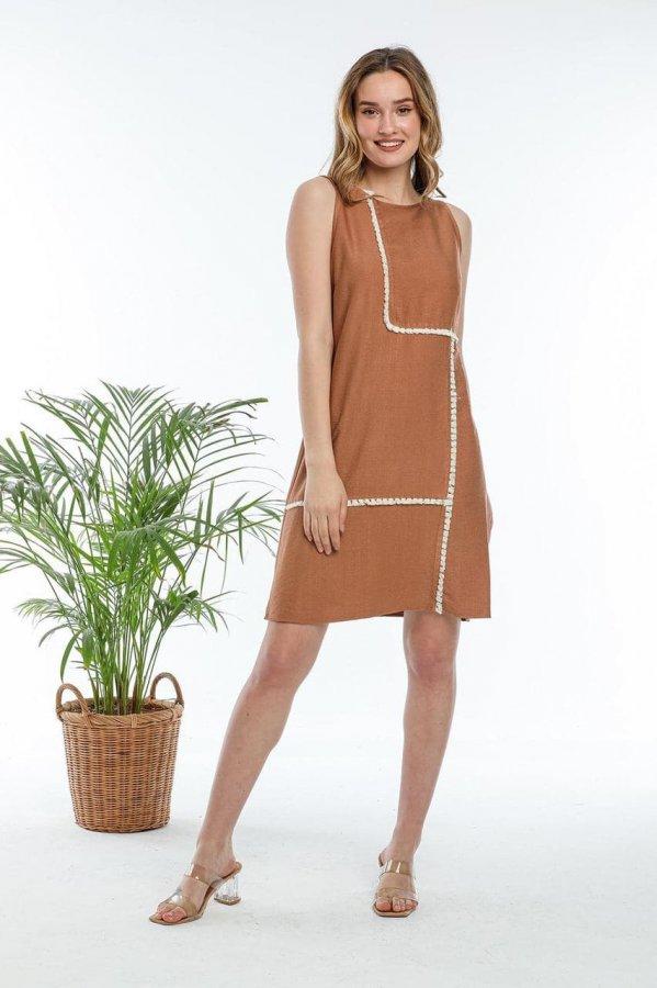 Sıfır Kol Elbise 5648